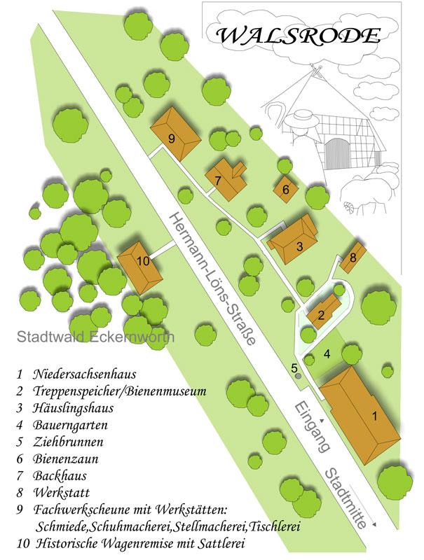 Heidemuseum-Lageplan